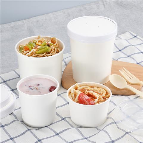 White soup container